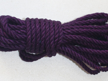 Selling with online payment: 8 metres purple hemp rope 7mm thick