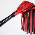 Selling with online payment: Red and black latex flogger Large
