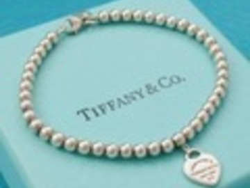"""Gifts: (SOLD) Authentic Tiffany & Co Mini Heart Bracelet 8.5"""" inches"""