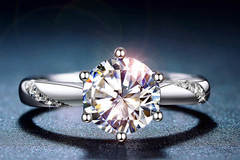 Buy Now: 10 pieces Classic 925 Sterling Silver Moissanite Ring 1ct IJ