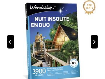 """Vente: e-Coffret Wonderbox """"Nuit insolite en duo"""" (69,90€)"""