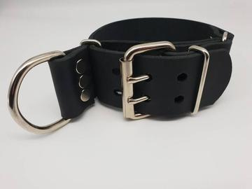 Selling with online payment: Leather Choking / Asphyxiation Training Collar
