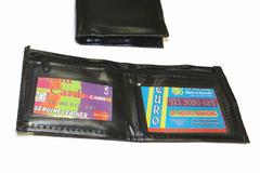 Buy Now: Vinyl Men's Black Bi-Fold Wallet With 2 Window ID Holder