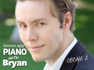 Piano - 60 Minute: Piano lessns with Bryan - (SKYPE/ZOOM)