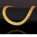 """Buy Now: 22"""" Gold Snake Curb Chain 6mm Wide Lobster Clasp Stamped 18k Neck"""