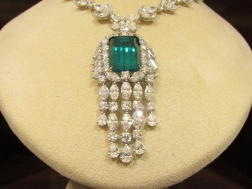 Make An Offer: GIA CERTIFIED 100% NATURAL EMERALD, DIAMOND NECKLACE
