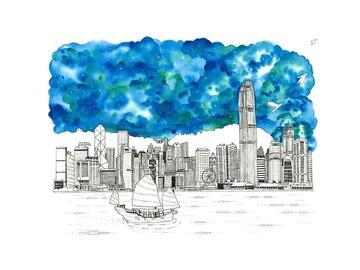 : The Hong Kong Skyline (Limited Edition Print)