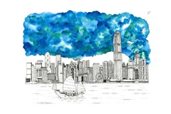: The Hong Kong Skyline (Limited Edition Print)