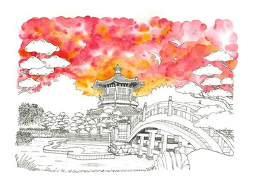 : The Chi Lin Nunnery (Limited Edition Print)