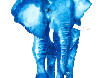 : The Blue Elephant (Print)