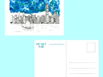 : Hong Kong Skyline Postcard