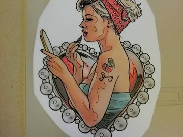 Tattoo design: Lady lipstick