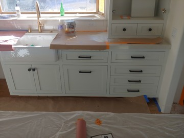 Offer work without online payment: Kitchen Cabinet Painting Finish Orange County