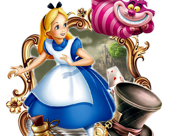 Tattoo design: Alice in Wonderland