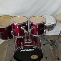 Selling with online payment: Peavey-International Series II-Metallic Wine Red-5 Piece-Drum Kit