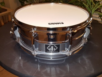 """Selling with online payment: GiG Percussion-Snare Drum-Parallel Action Strainer-14"""" x 5""""-Chrom"""