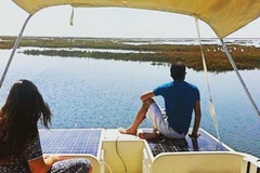 Huur per persoon: Algarve Eco-friendly Solar Boat Trip in Ria Formosa from Faro