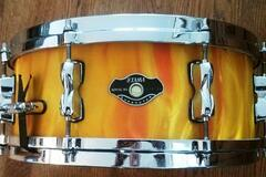 Selling with online payment: Tama Superstar EFX snare drum Orange Satin Flame