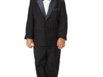 Buy Now: 10 Boys 2 Piece Tuxedo Suits w/Notch Collar MSRP $990