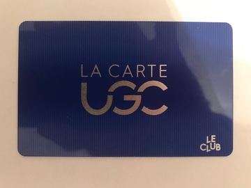 Vente: Carte UGC 3 places 5j/7 (32€)