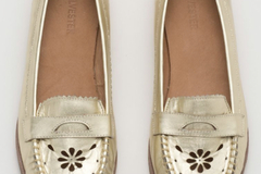 Selling: Kate Sylvester Gold Loafers