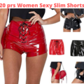 Make An Offer: 20 pairs Women Sexy Slim Short Pu Leather High Waist Lace Up