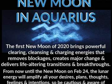Selling: NEW MOON IN AQUARIUS WHICH DREAMS ARE ABOUT TO COME TRUE