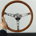 Selling with online payment: Mustang Style Wooden Steering Wheel
