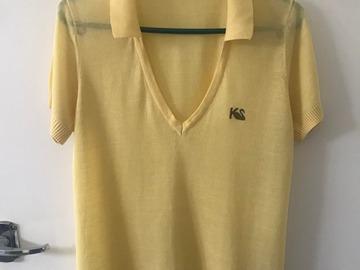 Selling: Lemon yellow polo top - Size S
