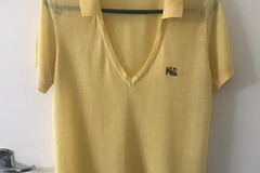 Selling: Lemon yellow polo top - Size S