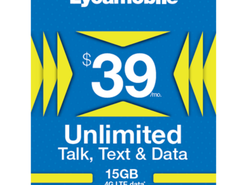 Other Item: LYCAMOBILE SIM Card Preloaded $39 Plan for 1 Month