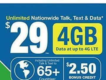 Other Item: LYCAMOBILE SIM Card Preloaded $29 Plan for 1 Month