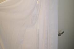 Ilmoitus: Sifonki kangas, ivory, 9kpl 150*500 cm