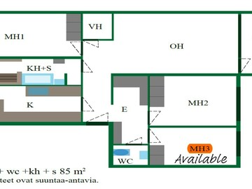 Renting out: Matinkylä- One room available in a 3 room Apartment