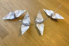 Ilmoitus: Origamit nuottipaperista