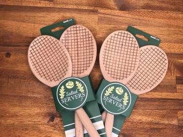Vente: Couverts à salade en Raquette de Tennis