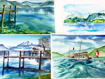 Workshop Angebot (Termine): Aquarell malen am Vierwaldstättersee