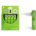 Buy Now: Rechargeable  4 Pack AA Batteries With Charging  Cable