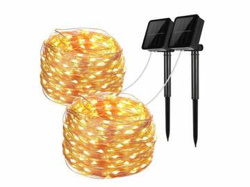 Buy Now: 100 LED SOLAR 40ft Long Mini Lights  (20 pc) (VALUED $1180)