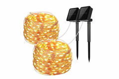 Buy Now: 100 LED SOLAR 40ft Long Mini Lights  (20 pc) (VALUED $1180)