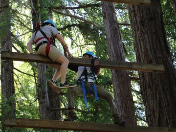 per person: Santa Cruz Team Building Challenge Ropes Course
