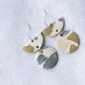 : Ceramic terrazzo earrings