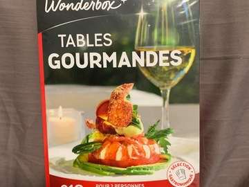 "Vente: Wonderbox ""Tables gourmandes"" (59,90€)"