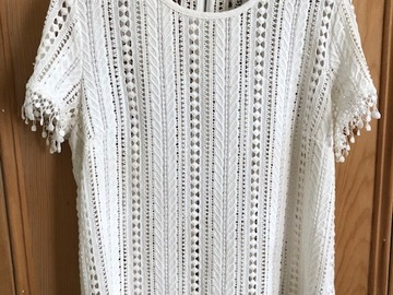 Selling: Cream Lace Top Size L