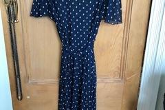Selling: Navy Polka Dot Dress Size L