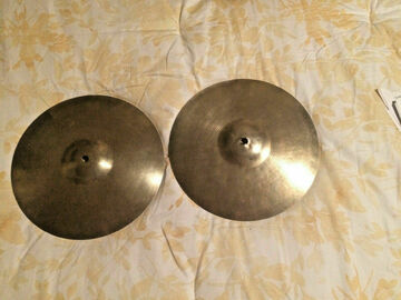 """Selling with online payment: Ludwig Paiste Hi Hat 12"""" Cymbals Vintage 60's Made in Germany -St"""