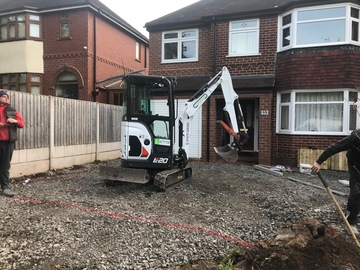 Daily Equipment Rental: Digger and driver for hire