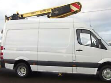 Daily Equipment Rental: Mercedes sprinter 13.5m hoist and operator hire