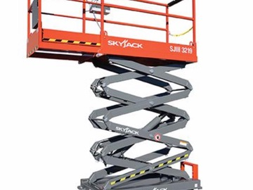 Weekly Equipment Rental: 7.9m Scissor lift hire