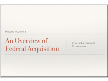 Selling with online payment: Federal Acquisition Courses